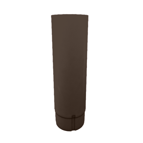 Водосточная труба металлическая Grand Line d90 мм 2.5 м коричневый, Коричневый, Металл  - Купить