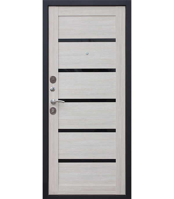 Дверь входная Гарда Муар Царга лиственница мокко 860х2050 мм левая