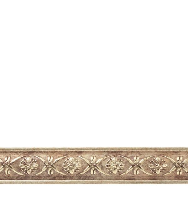 Плинтус (молдинг) из полистирола 30х14х2400 мм Decomaster матовое золото плинтус молдинг 30х14х2400 мм decomaster бук с платиной