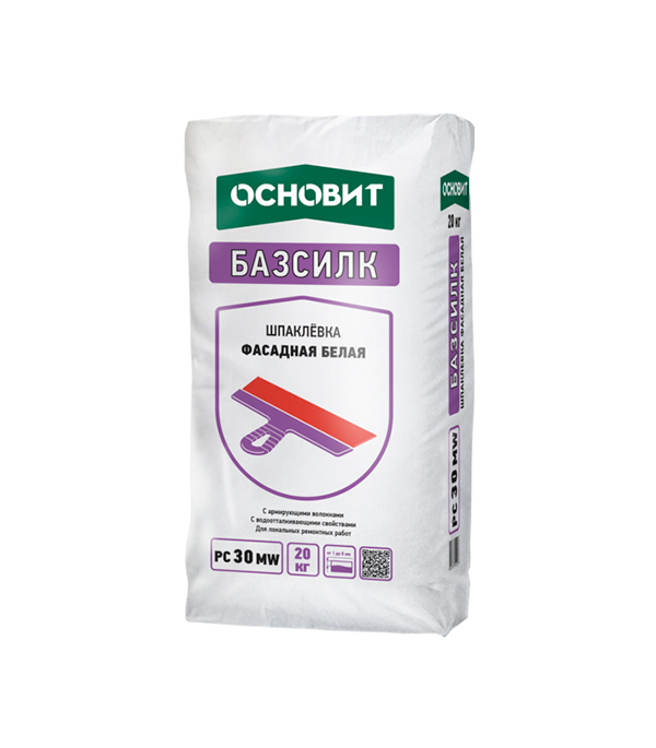 Купить Шпаклевка фасадная Основит Базсилк PC30 MW белая 20 кг