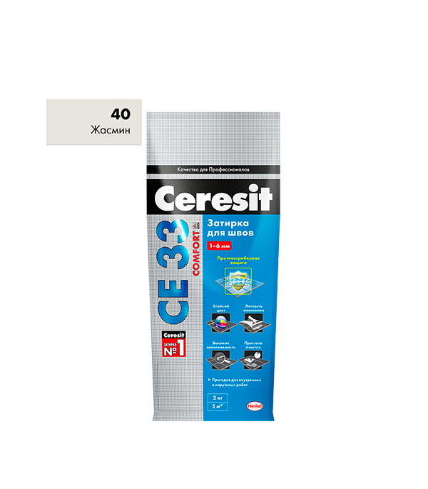 Затирка Ceresit СЕ 33 №40 жасмин 2 кг