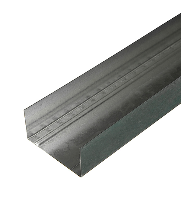 Профиль направляющий Оптима 75х40 мм 3 м 0.45 мм пн 75х40 3 м оптима 0 45 мм