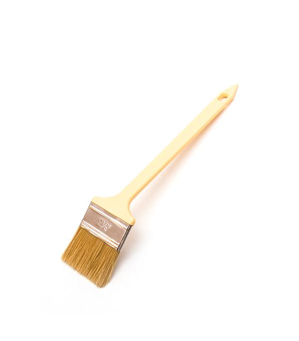 Кисть радиаторная Beorol 63 мм натуральная щетина пластиковая ручка кисть радиаторная 63 мм натуральная щетина деревянная ручка hardy стандарт
