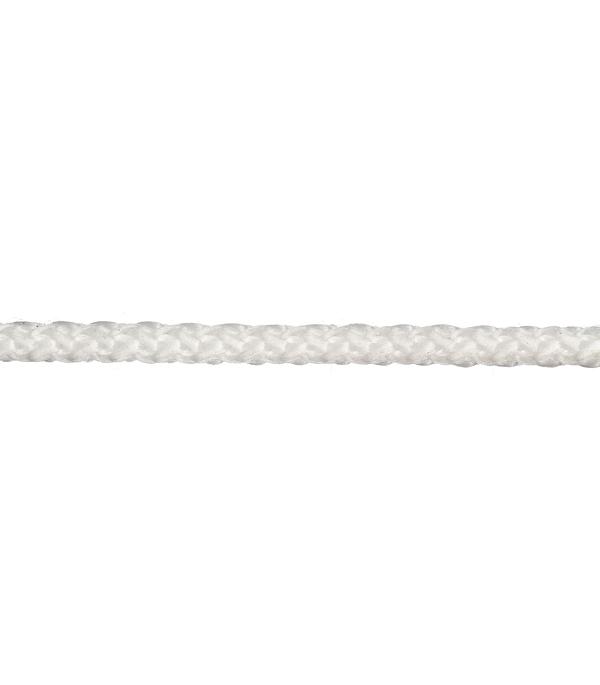 Плетеный шнур Белстройбат без сердечника полипропиленовый белый d4 мм 50 м