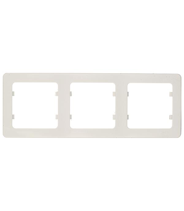 Рамка трехместная Hegel Master белый clippasafe защита для розеток clippasafe белый