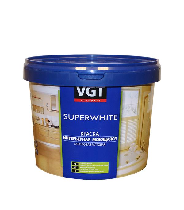 Краска в/д интерьерная моющаяся основа С матовая VGT 1,9 л/2,5 кг краска в д интерьерная моющаяся основа а матовая vgt 4 л 6 кг