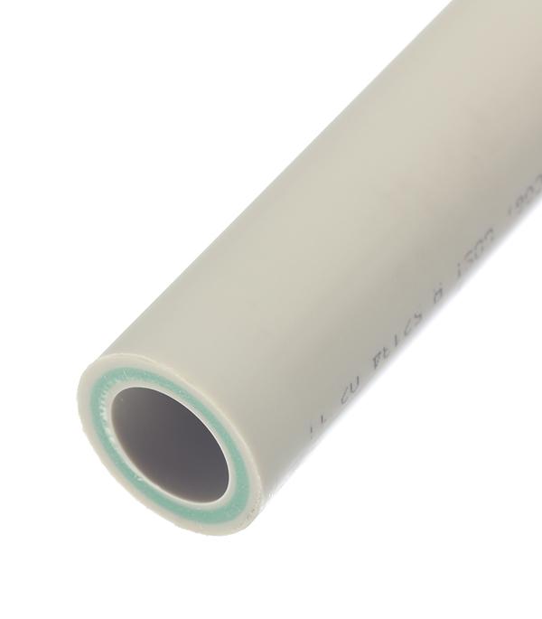 Купить Труба полипропиленовая армированная стекловолокном 40х2000 мм, PN 20 FV-PLAST серая, Серый