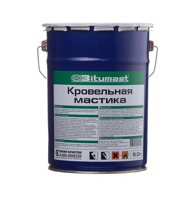 Мастика кровельная Bitumast 4,2 кг/ 5 л мастика каучукобитумная bitumast 18 кг 21 5 л