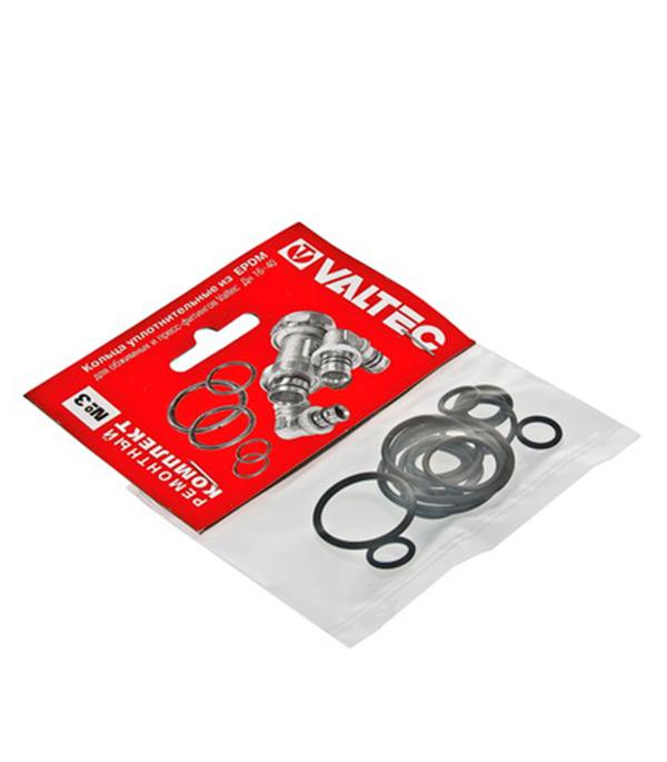 Купить Набор сантехнических прокладок EPDM Valtec № 3 резина, Резина