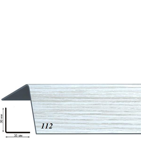 Угол пластиковый с тиснением 30х30х2700 ясень серый 112 угол пластиковый с тиснением 30х30х2700 бук натуральный 155