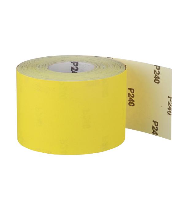 Наждачная бумага желтая P240 115 мм 50 м ремень абразивный на тканой основе 100х292 мм p240 glob g100х292p240