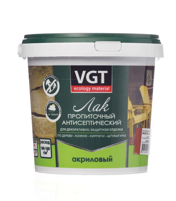 Лак антисептик акриловый VGT махагон 0,9 кг