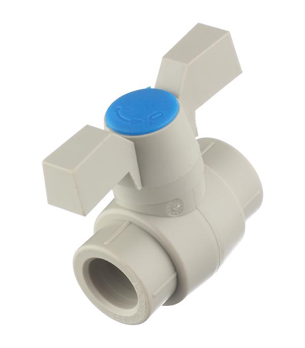 Кран полипропиленовый шаровый 20 мм FV-PLAST серый