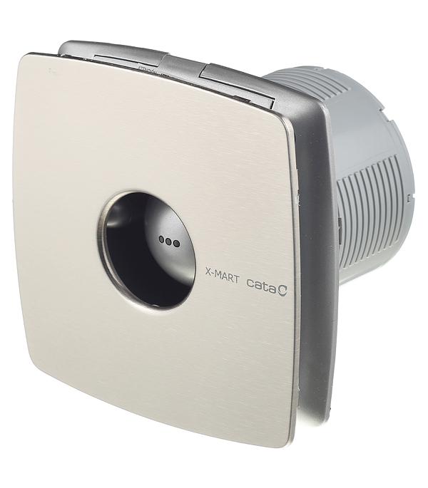 Вентилятор осевой d100 мм Cata X-Mart 10 Inox серебристый вентилятор cata x mart 12 inox d120 мм 20 вт