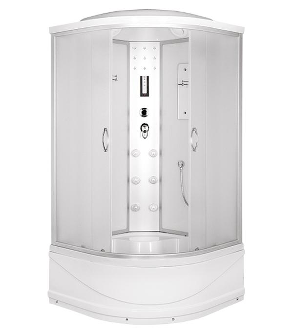 Душевая кабина ERLIT ER4509TP-C3 90х90х215см с высоким поддоном с крышей стекло матовое 4мм leflash свет к накладной мебельный круглый поворот g4х20вт матовое стекло титан 75 40