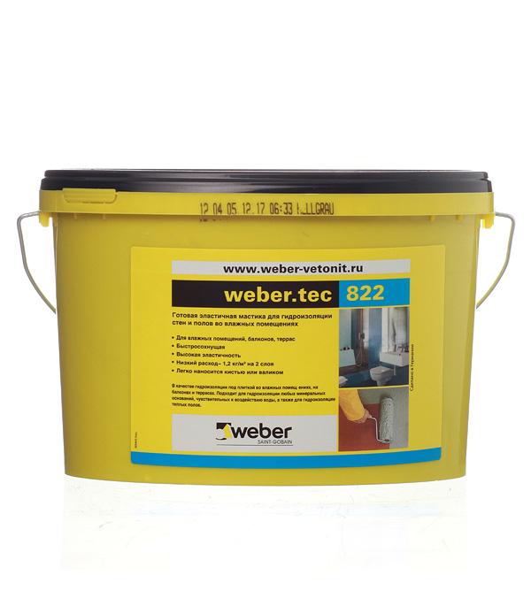 Купить Гидроизоляция Вебер (Weber.tec) 822 серая 8 кг, Weber-Vetonit, Серый