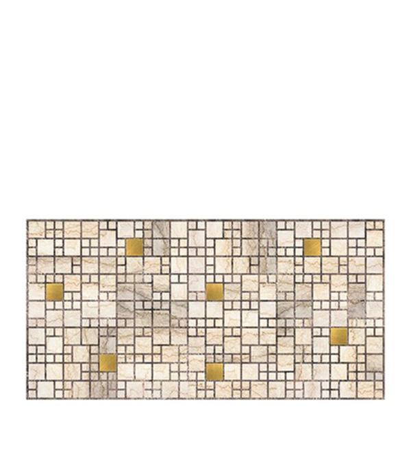 Панель ПВХ мозаика мрамор с золотом 955х480 мм