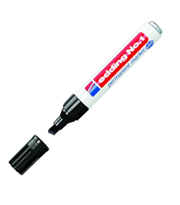 Перманентный маркер Edding 1 черный 1-5 мм маркер перманентный двухсторонний черный пулевидный 0 5 1мм