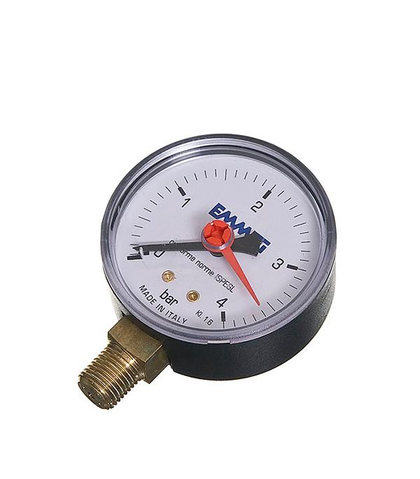 Манометр радиальный Emmeti 1/4 нар(ш) 4 бара d63 мм