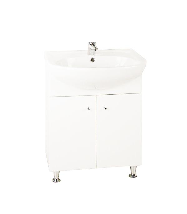Тумба под раковину АСБ-Мебель Магнолия 500 мм напольная белая