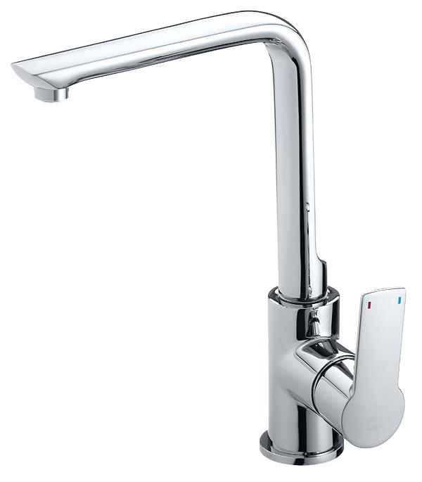 Смеситель для кухни ARGO PREMIUM OLIMP 35-03P однорычажный высокий argo смеситель для умывальника olimp хром белый d 35