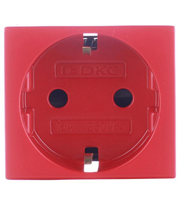 Розетка силовая Viva для кабель-канала ДКС со шторками красная 2 модуля розетка телефонная для кабель канала дкс белая 1 модуль viva