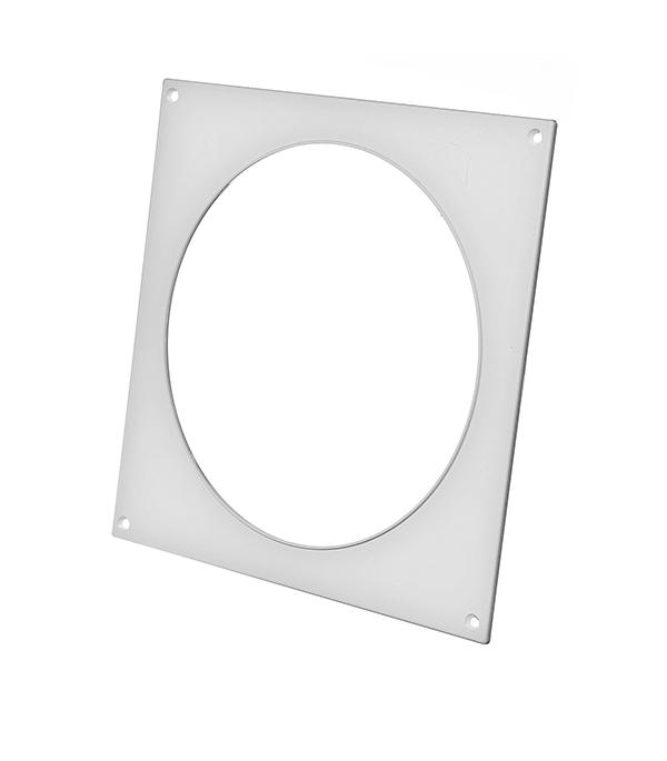 Купить Накладка настенная для круглых воздуховодов пластиковая d160 мм, Белый, Пластик