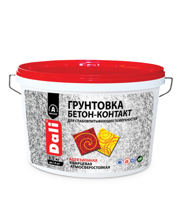 Бетоноконтакт Dali 3.5 кг грунтовка dali укрепляющая акриловая рогнеда 5л