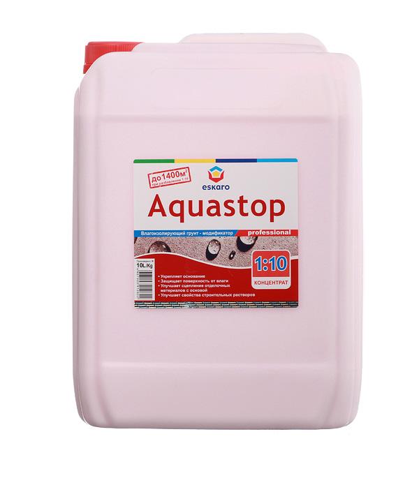 Грунт концентрат Eskaro Aquastop Professional 10 л грунт адгезионный eskaro aquastop betoncontaсt 1 5кг