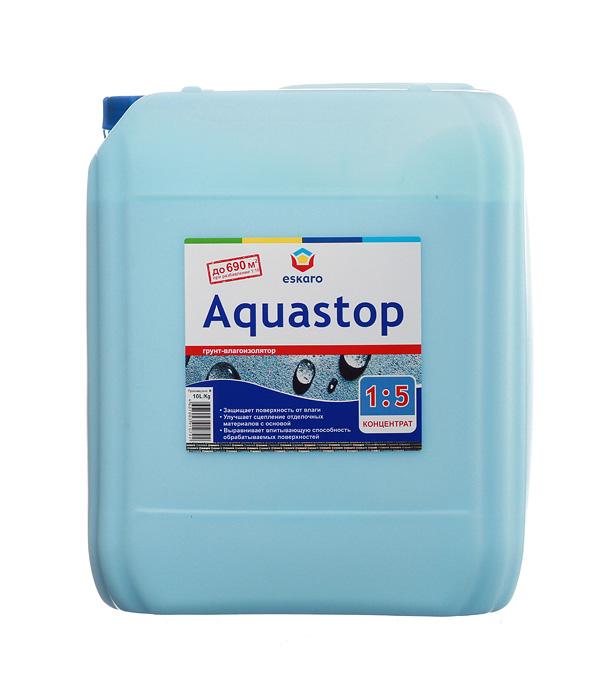 Грунт концентрат Eskaro Aquastop 10 л грунт адгезионный eskaro aquastop betoncontaсt 1 5кг