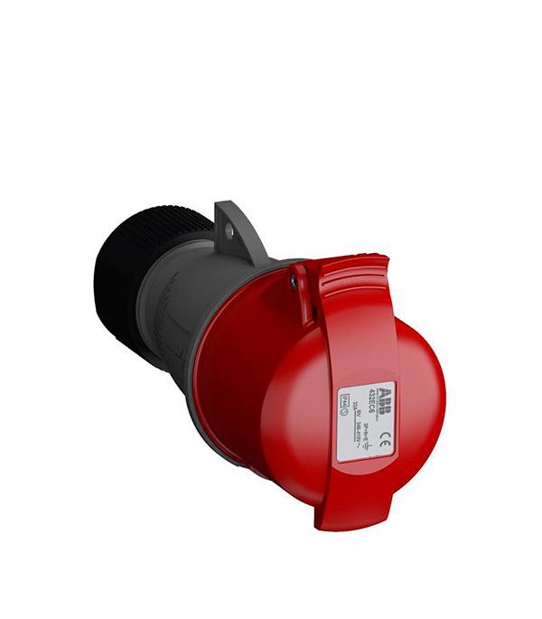 Розетка кабельная ABB 400В 3P+N+E 32А IP44 розетка кабельная iek 115 3p pe n