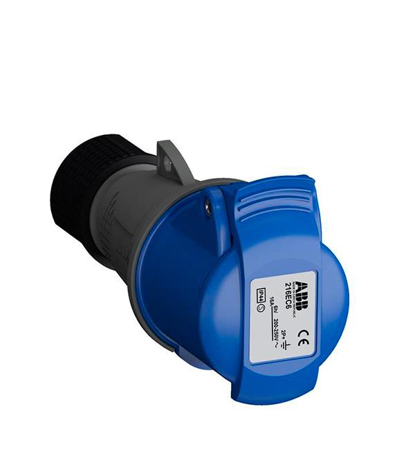 Розетка кабельная ABB 230В 2P+E 16А IP44 стяжка кабельная abb 215х4 8мм черная 100шт