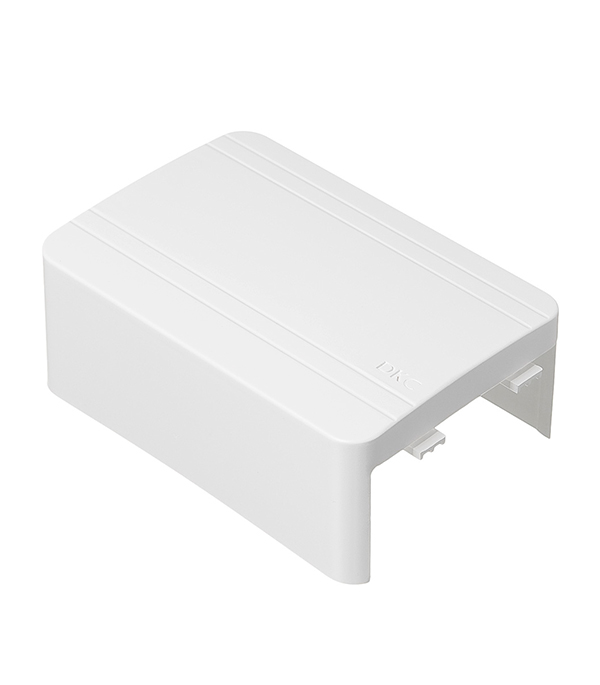 Тройник/отвод для кабель-канала ДКС 80х40 мм белый кабель