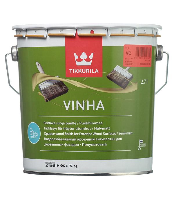 Купить Антисептик кроющий Tikkurila Vinha основа VC 2.7 л, Бесцветный