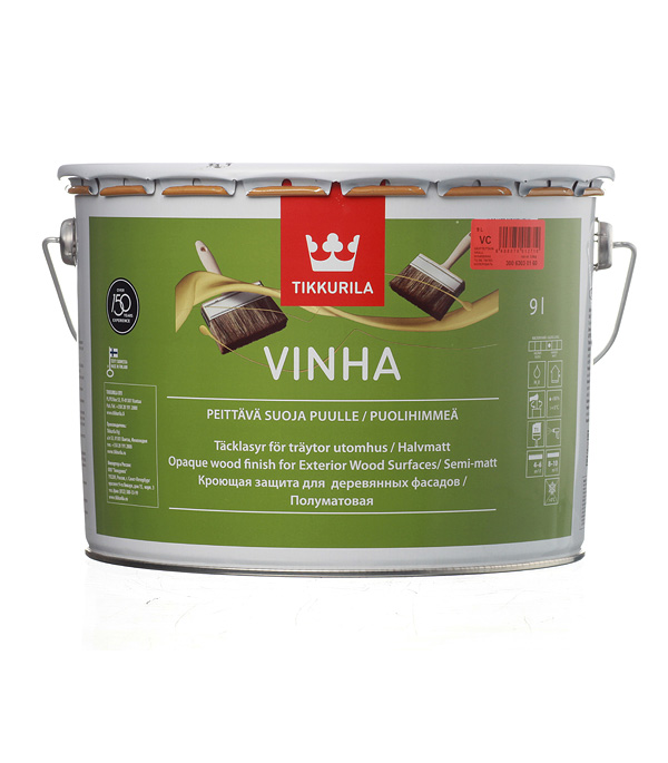 Купить Антисептик кроющий Tikkurila Vinha основа VC 9 л, Бесцветный