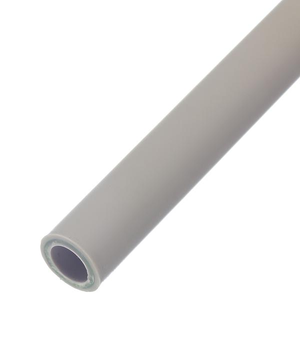 Купить Труба полипропиленовая, армированная стекловолокном 20х2000 мм, PN 20 FV-PLAST серая, Серый