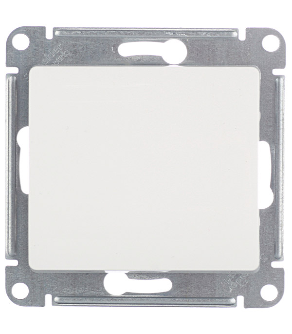 Купить Механизм переключателя одноклавишного Schneider Electric Glossa с/у белый, Белый