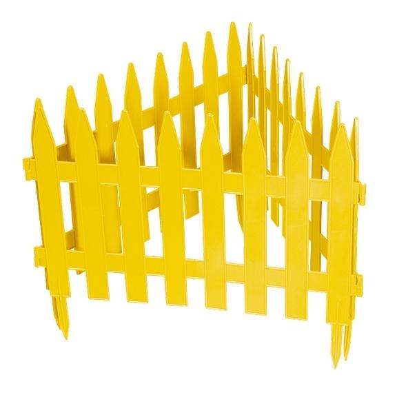 Забор декоративный PALISAD Рейка желтый 28 х 300 см