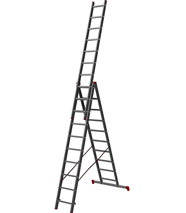 Лестница Новая высота 3-х секционная бытовая 3x10 лестница новая высота приставная 10 ступеней