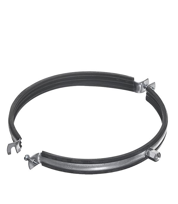 Хомут для монтажа круглых стальных воздуховодов d200 мм врезка оцинкованная для круглых стальных воздуховодов d125х100 мм
