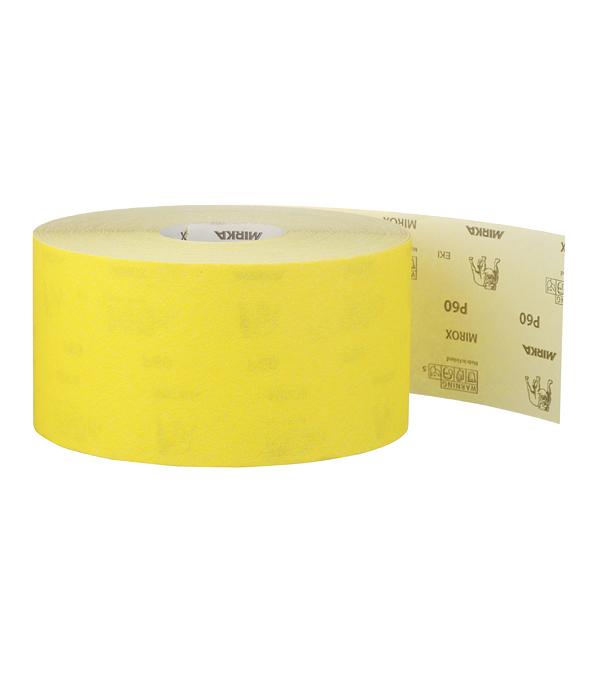Наждачная бумага Mirox Mirka P60 желтая 115 мм 50 м bosch наждачная бумага