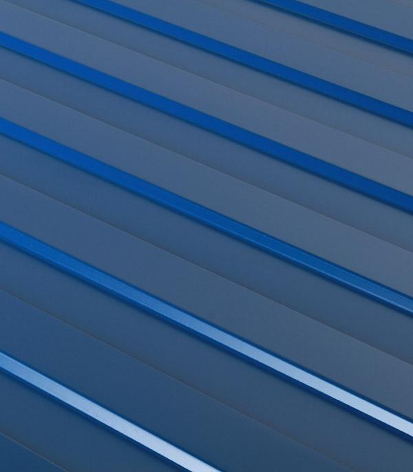 Купить Профнастил С8 1.20х2.00 м толщина 0.37 мм синий RAL5005, Синий