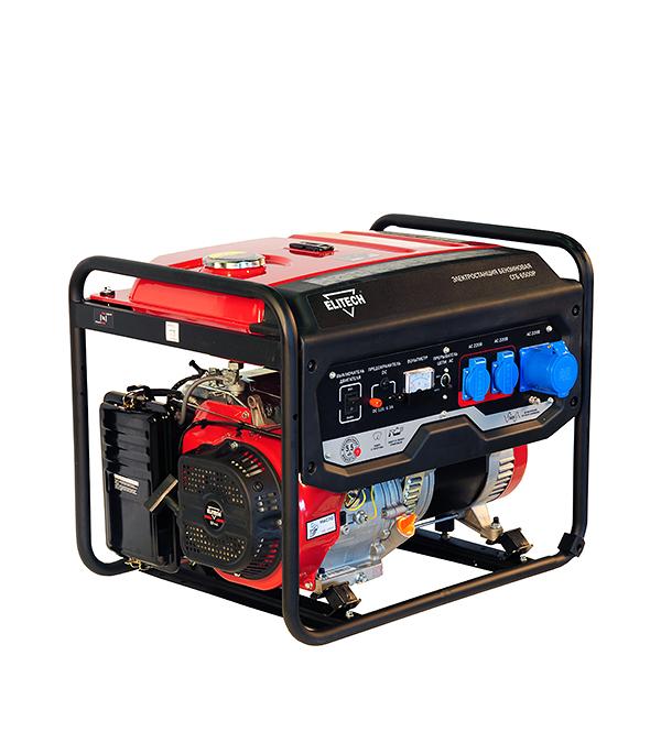 Генератор бензиновый Elitech СГБ 6500 Р генератор бензиновый elitech бэс 6500 e