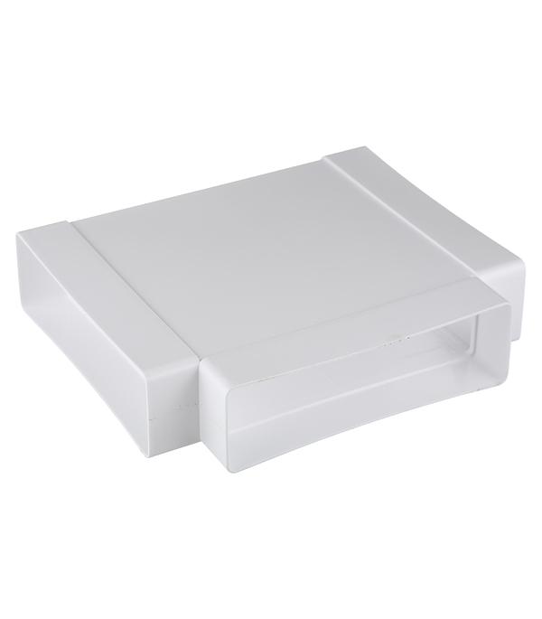 Тройник для плоских воздуховодов пластиковый 60х204 мм 90° врезка оцинкованная для круглых стальных воздуховодов d125х100 мм