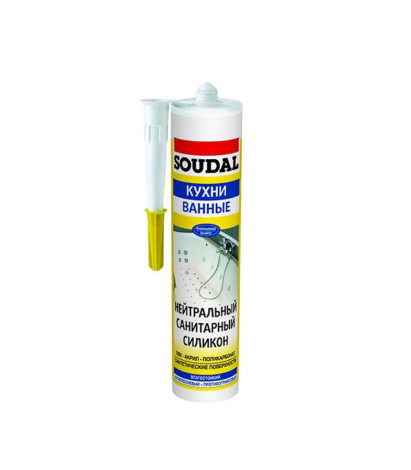 Герметик нейтрально-санитарный Soudal 300 мл прозрачный жидкие гвозди soudal монтаж фикс на водной основе 300 мл