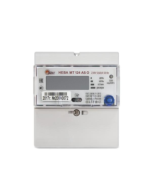 Счетчик Нева МТ 124 5-60А 1-фазный электронный 2-тарифный на дин-рейку тарифный план