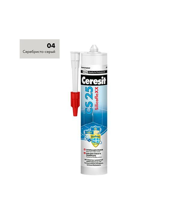 Купить Герметик силиконовый (затирка) Ceresit CS 25 № 04 серый 280 мл