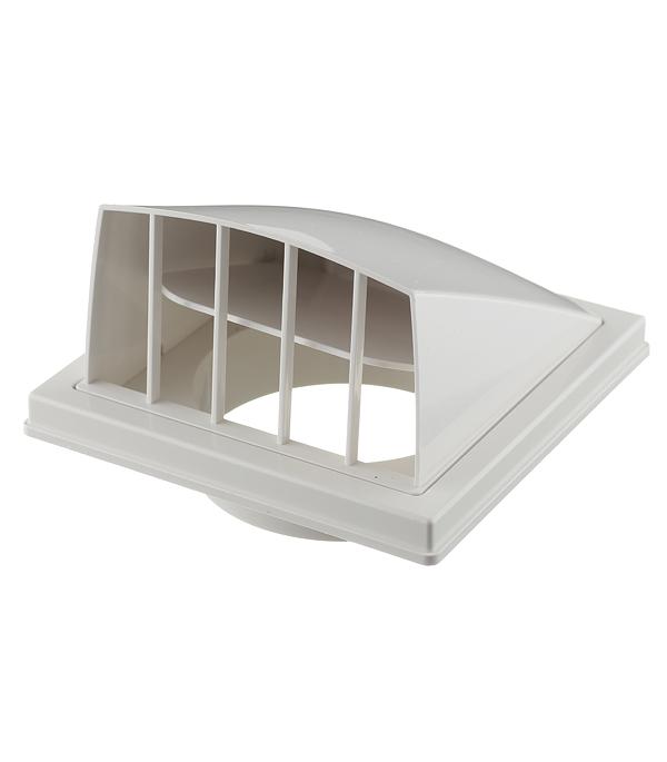 Вентиляционный выход стенной пластиковый с обратным клапаном и с фланцем d100 мм