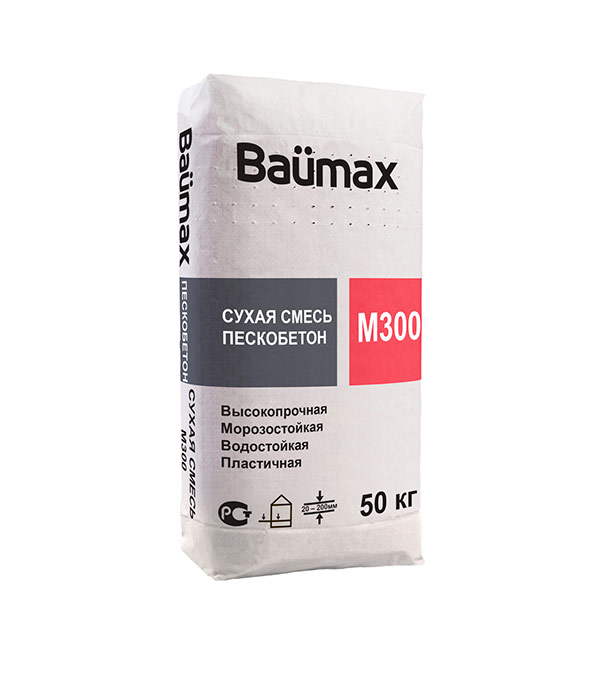 Пескобетон Baumax М-300 50 кг