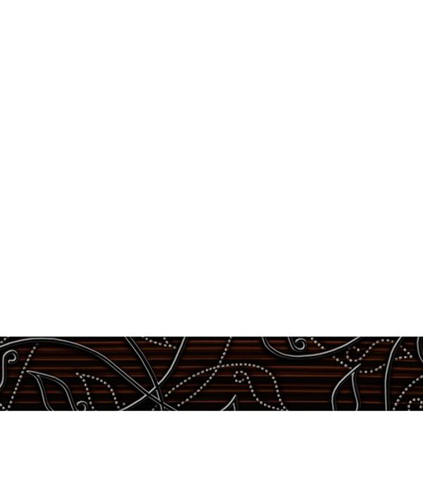 Плитка бордюр 350х54х7 мм Джаз коричневый